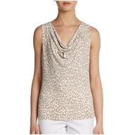 calvin klein womens cheetah blouse