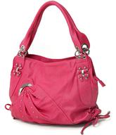 fuchsia hobo handbag