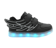 clearance led children black sneaker