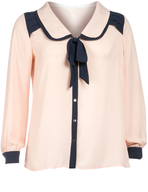 apricot womens blouse closeouts