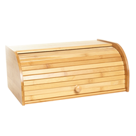 overstock bamboo bread box