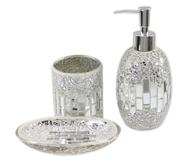 bathroom acc silver