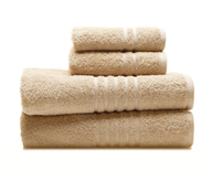 beige towel set