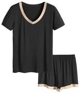 black beige pajama set