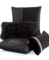 black decorative pillows