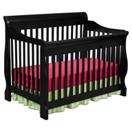 black pink green crib