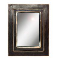 black wooden mirror