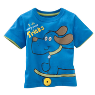 blue childrens shirt