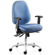 blue computer chair