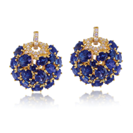 blue gold diamond earring