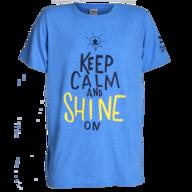 blue keep calm and shine on t shirt