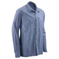 blue long sleeve button down