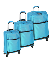 discount blue luggage