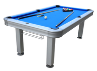 blue outdoor pool table
