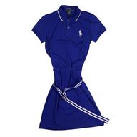 blue polo dress