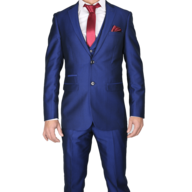 blue red two piece mens suit