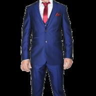 surplus blue red two piece mens suit