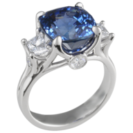 overstock blue silver ring