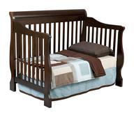 boys dark wood baby crib