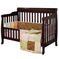 brown baby crib convertible