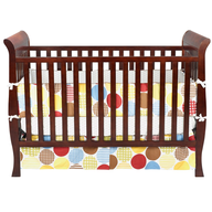 brown baby crib