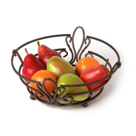 brown fruit bowl