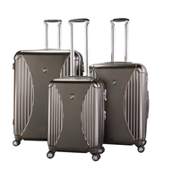 brown set luggage