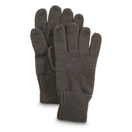 brown winter gloves