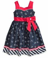 childrens sailor blue dress