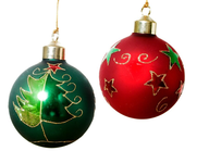 christmas balls pallets