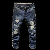 class dim ripped jeans