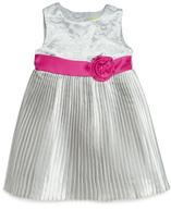 crinkle satin dress