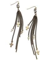 cross chains earrings