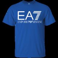 emporio armani blue t shirt