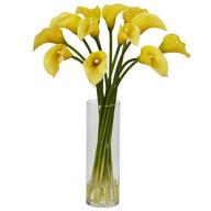 overstock fake flower vase