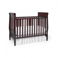 fancy brown baby crib