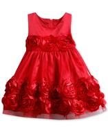 flower applique dress