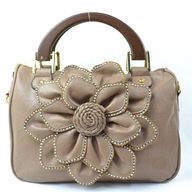flower beige handbag
