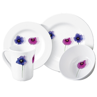flowers white plate