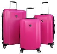 fushia luggage set
