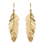 gold leaf earring