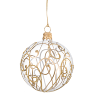 wholesale closeout gold silver christmas ball