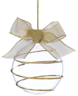 gold swirl ornament