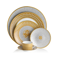 gold white dinner set closeouts
