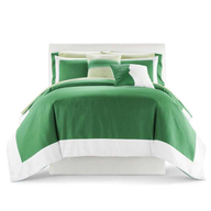 green bedspread pallets