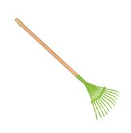 green leaf rake