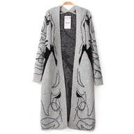 grey long sweater