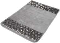 grey sparkles rug shelf pulls