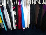 hanger of dresses shirts
