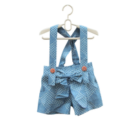 jumpsuit childrens blue white